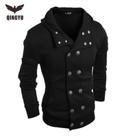 Hot 2016 New Arrival Gary Cotton Mens Winter Hoodies Villus Male Sweatshirts High Quality Askew Button