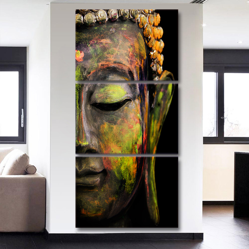Framed Home Decor Canvas Print Painting Wall Art Buddha: Canvas Home Wall Art Decor Framework HD Prints Living Room