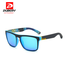 DUBERY Polarized Mirror Sunglasses Men's Aviation Driving Male Sun Glasses For Men Clear 2017 Luxury Brand Designer Oculos
