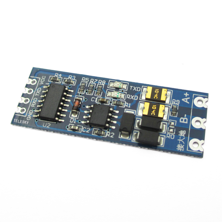 2pcs/lot  Level Converter TTL To RS485 or RS485 To TTL Serial UART Module Hardware Automatic Flow Control Module