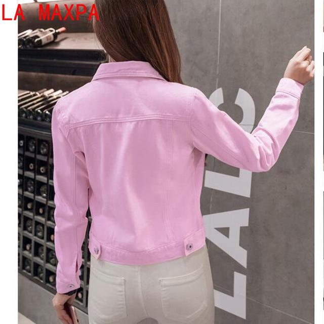 Summer Jacket For Women Fashion Autumn Long-sleeved Denim Shirt Korean Jacket  Stretch Short Denim Jacket Coat Chamarra Mujer 5