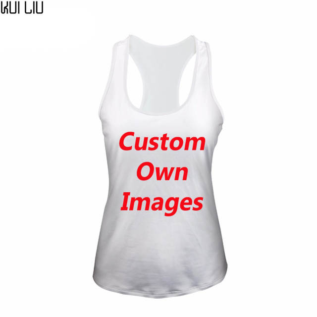 Logo Print Custom Women Tank Tops