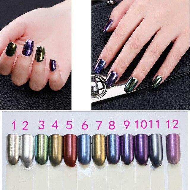 27ac16215d Venta caliente 3g espejo efecto polvo para uñas brillo mágico cromado  pigmento uñas brillo
