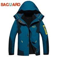 SAGUARO New Winter Ski Jacket Men Outdoor Windproof Waterproof Warm Sport Snowboarding Suits Fleece Liner Skiing