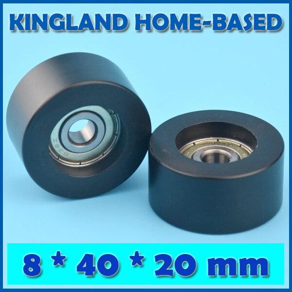 10PCS 8*40*20mm POM Plastic Coated Window Door Roller Flat Type Roller For Drawer Cabinet Window Wheel Bearing Inner Ring 8mm
