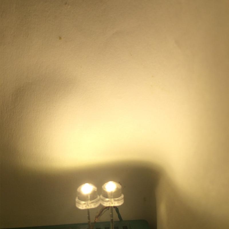 50PCS  F5 5mm BLUE Straw Hat Superbright LED Light LED Lamp