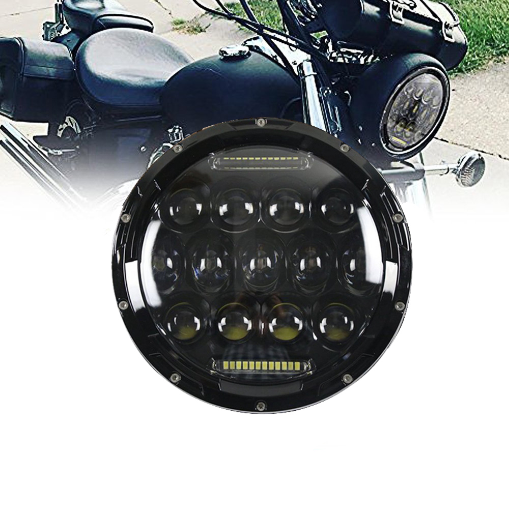 TNOOG DOT Approved 7Inch Led Round Headlights Hi/Lo Beam DRL & Amber Turn Signal Headlamps for Harley Davidson Street Glide