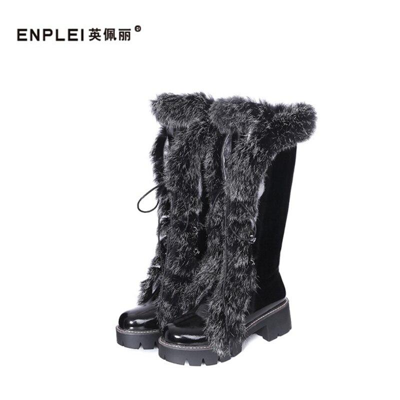 alta Encaje Nieve Rodilla Zapatos De Hasta 33 Envío Invierno Enplei La plata Con Tamaño Gran Flecos Negro Felpa blanco 42 Libre Botas xSwnP0gIq