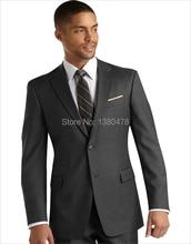 custom suit grey bridegroom suit Groom Tuxedos men's wedding suits(Jacket+Pants+tie)Men dress suit Free Shipping