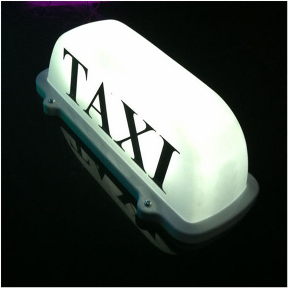 Taxi Top Light / Ny LED tak takskylt 12V med magnetisk bas vit - Bilbelysning - Foto 2