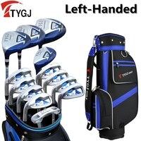Бренд ttygj, 13 предметов Гольф клубы левша Мужской Гольф клубы полный набор с сумка левая рука Гольф левша гольф клубов