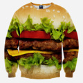 Hot Sell Men/Women Hoodies Hamburger 3d print Hoody Sweatshirt Men's Clothing casual Pullovers