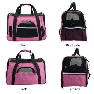 Image 3 - Bolsa de transporte portátil para perros y gatos, bolsa de viaje para cachorros, malla transpirable, portador de Chihuahua pequeño