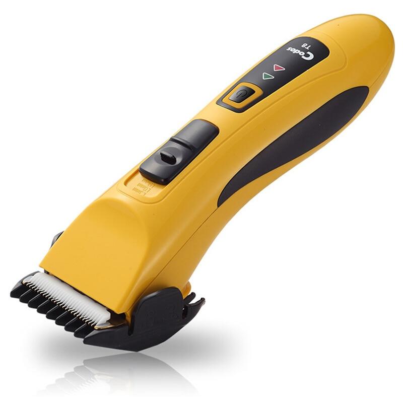 Tondeuse à cheveux électrique professionnelle en céramique titane tondeuse à cheveux pour hommes li-batterie 110-240V 1.5 heures de charge rapide