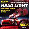 Ironwalls Led 9005 single beam LED Headlight Bulbs 80W Cree Chips 6500K 9600Lm Single Beam All-In-One Headlamp Light DC 12/24V
