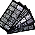 1pcs New 30 designs Nail Art Stamping Plates Flowers Templates Polish 12*6mm Rectangle Stamp stencil
