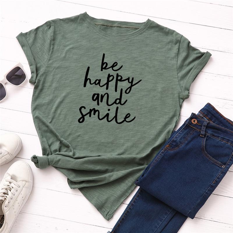 Plus Size 5XL Fashion Letter Print T Shirt Women 100% Cotton O Neck Short Sleeve Summer T-Shirt Tops Casual Tshirt Women Shirts