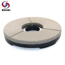 RIJILEI 150mm Diamond Resin polishing pad For Marble Polishing 6 inch bond grinding disc BLACK RED WHITE BUFF Disc YG23-2