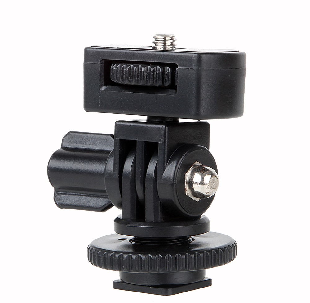 1/4 Screw Hot Shoe Mount Adapter Adjustable Angle Pole For DSLR Camera LED Flash Light Monitor