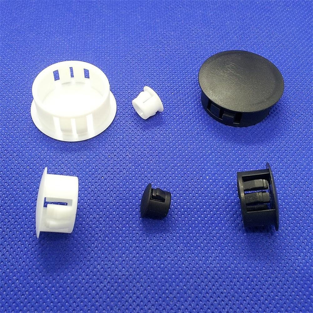 Provided 5 6 8 10 13 14 16 19 22 25mm White Black Furniture Screw Hole Plug Machine Cabinet Pannel Tube End Cap Wire Grommet Hole Deco Furniture