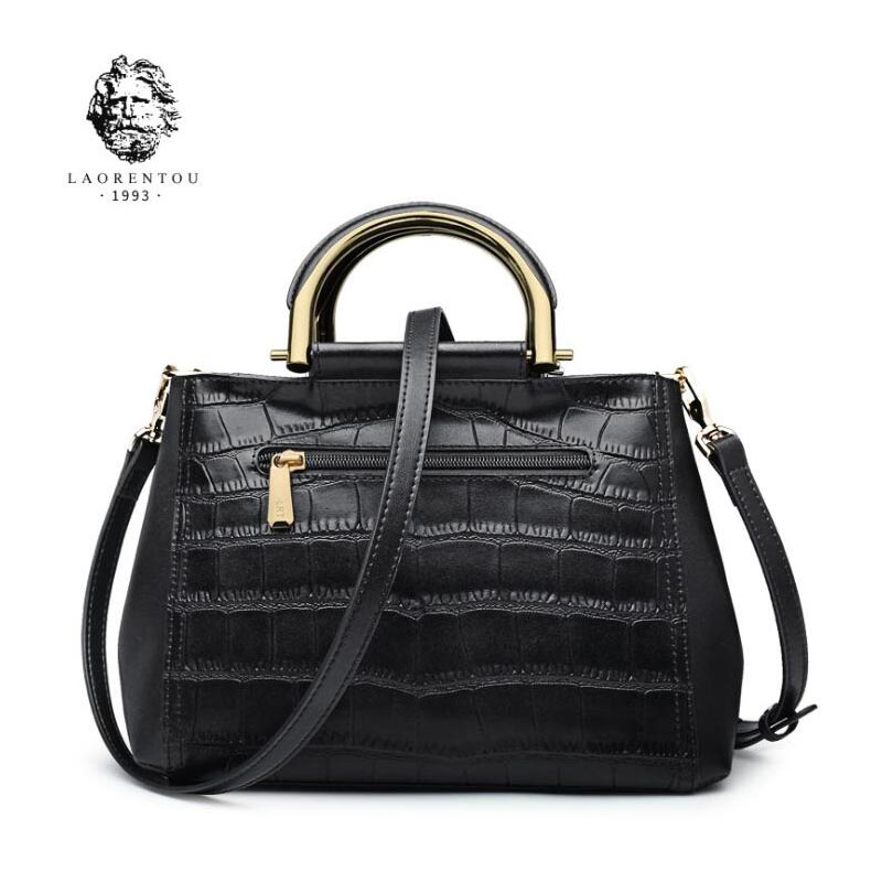 Famous brands top  Cow Leather  women bag  Fashion Shoulder Messenger Bag 2018 New Fashion Crocodile Boston Bag handbag famous brands top quality dermis women bag fashion leisure travel women shoulder bag leather crocodile pattern backpack