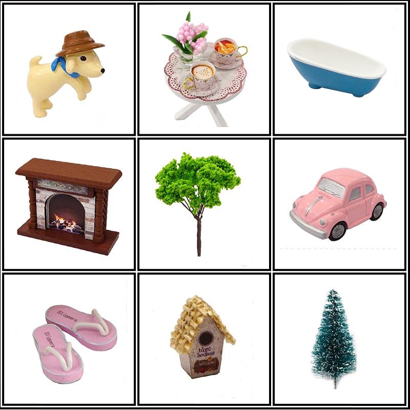 DIY Bebek Evi Ahşap Bebek Evleri Minyatür dollhouse Mobilya Kiti - Bebekler ve Aksesuarlar - Fotoğraf 4