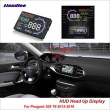 купить Liandlee Car Head Up Display HUD For Peugeot 307 308 T9 2013-2018 Safe Driving Screen OBD II Speedometer Projector Windshield дешево