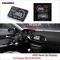 Liandlee Car Head Up Display HUD For Peugeot 307 308 T9 2013 2018 Safe Driving Screen OBD II Speedometer Projector Windshield