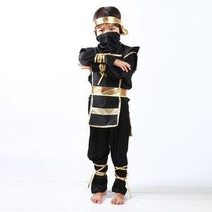 Image 5 - 검은 소년 Ninjago 제복 아이 옷 세트 아이들을위한 할로윈 의상 크리스마스 멋진 파티 드레스 닌자 의상 정장