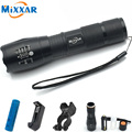 RU ZK30 XM-L T6 4000LM Aluminum LED Flashlight 5 Mode Zoomable cree Flashlight Torch for 18650 or AAA Battery for Biking Light