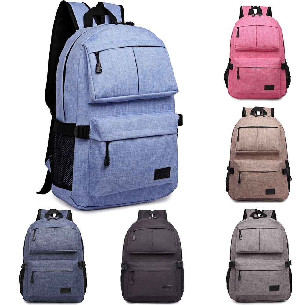 14 15 15.6 Inch Linen Flax Waterproof Laptop Notebook Backpack Bags Case School Backpack for Travel Shopping Climbing Men Women