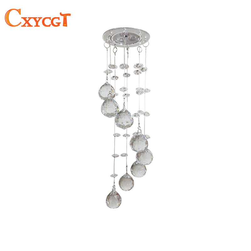 цены Mini Modern Crystal Ceiling Light Fixture Spiral Crystal Lamp Crystal lustre Light fitting LED for Aisle Hallway Porch Staircase