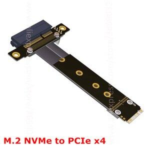 Image 2 - Riser PCIe x4 3.0 PCI E 4x ถึง M.2 NGFF NVMe M 2280 Riser Card Gen3.0 สาย M2 Key   M PCI   Express สายต่อ 32 กรัม/bps