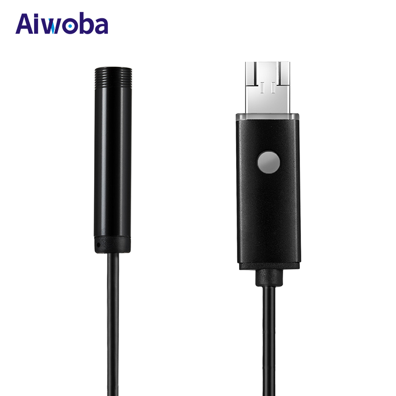 AIWOBA 1M 2M 5M 10M Cable 2 In 1 Mini Endoscope Android HD 8mm Lens USB Endoscope Camera Waterproof Inspection Borescope For PC genuine fuji mini 8 camera fujifilm fuji instax mini 8 instant film photo camera 5 colors fujifilm mini films 3 inch photo paper