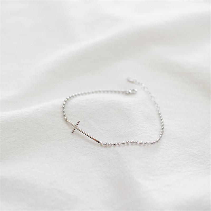 Jsmpfy 100% 925 Sterling Silver Bead Chain ձեռնաշղթա և - Նուրբ զարդեր - Լուսանկար 5