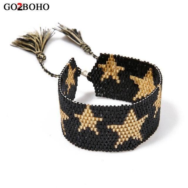 Go2boho MIYUKI Bracelet Jewelry Ethnic Bracelets Women Delica Seed Beads Star Ta