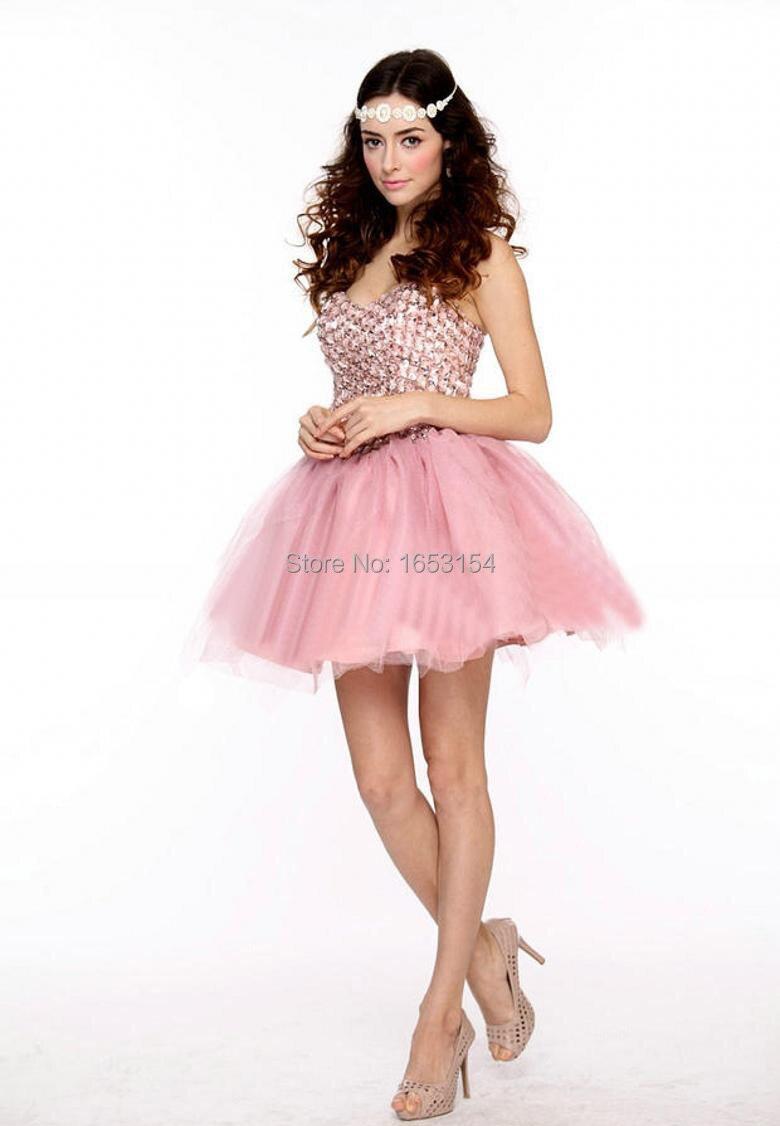 Magnífico Vestido De Cóctel De Color Rosa Colección - Ideas de ...