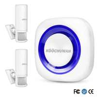KOOCHUWAH Smart Motion Sensor PIR Drahtlose Infrarot Alarm Alert System Home Security Einbrecher Alarm System Stimme Sound PIR Sensor