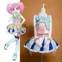 Косплей Легенда Aikatsu Мадока Amahane голубой костюм для косплея платье юбка взрослый костюм на заказ