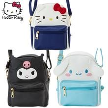 Hello Kitty Cute Cartoon Bag hellokitty Fashion Women Single Shoulder Waterproof PU Leather Girls Clutch Children Plush Backpack бумажник hello kitty qb110 114 kt hellokitty