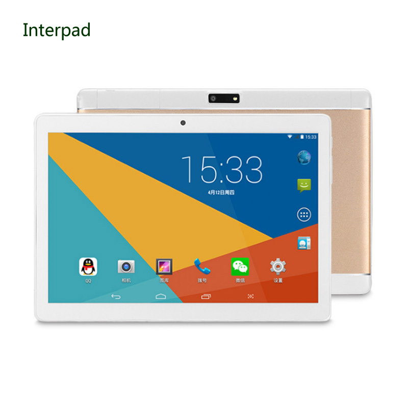 Interpad 3G tablet 10.1 inch Quad core MTK6582 IPS 1280*800 Dual SIM Phone call tablet 2GB DDR3 16GB ROM WIFI Android tablet pc