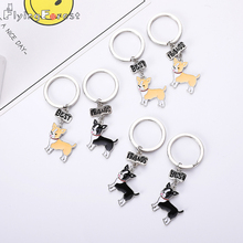 Keychain Chihuahua Dog Fashion Luxury Brand High Quality Car Best Friend Gift  Animal Men Jewelry