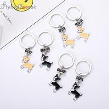 Keychain Chihuahua Dog Fashion Luxury Brand High Quality Car Best Friend Gift  Animal Men Jewelry