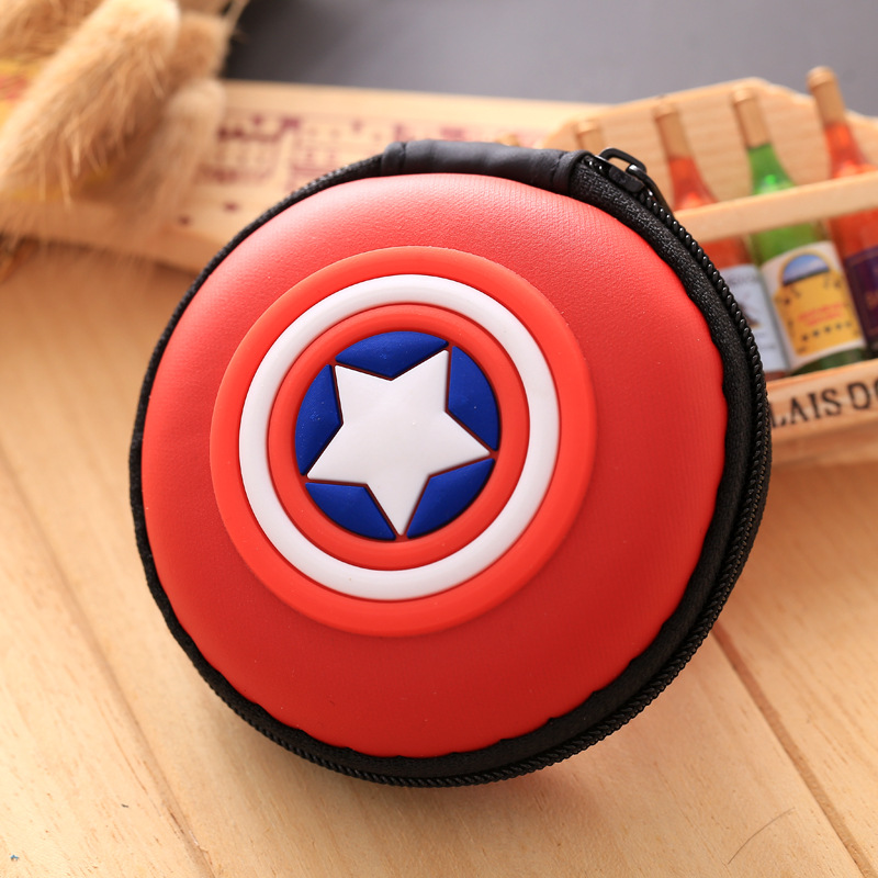 Candy Color Silicone Coin Purse Kids Gift Cartoon Anime Captain America Mini Coin Bag Men Lady Change Purse Heroes Smart Wallets containing package silicone rubber coin bag minion bag captain america gift promotional headset charger pouch holder coin purse
