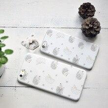 2017 Original Cute Hedgehog Printed Case for iPhone 6 6s 4.7″ Plus 5.5″ High Quality Soft TPU Ultra Thin Back Cover Case Capa 6s