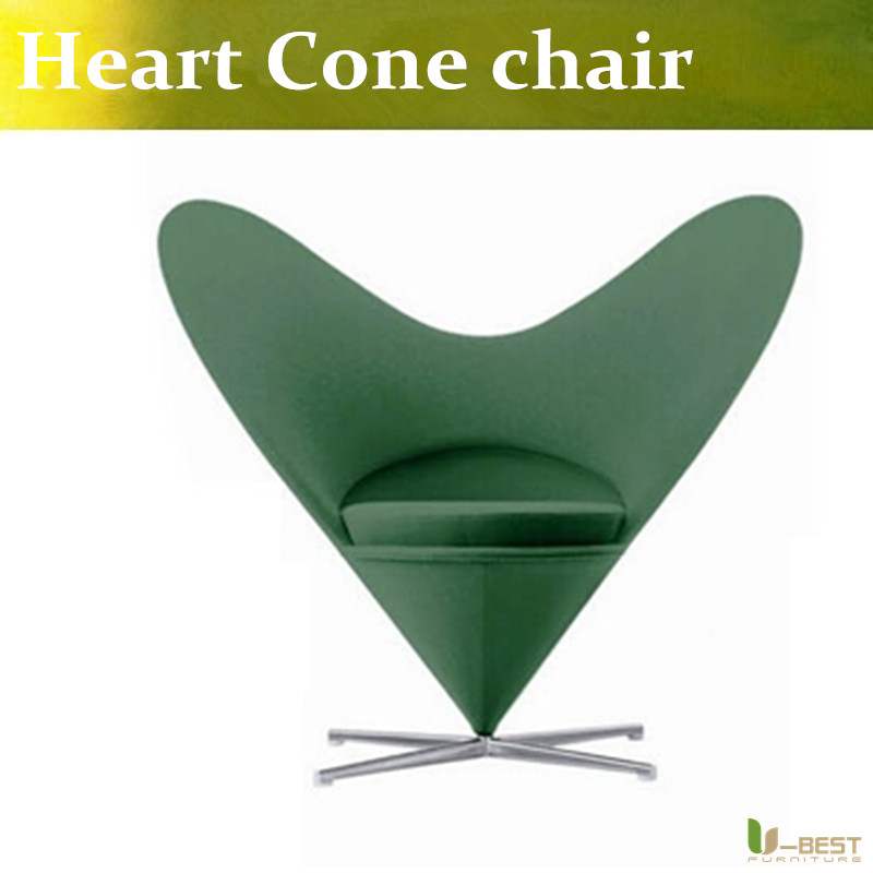 U-BEST Reproduction Fiberglass Heart Cone Chair Upholstered Fabric With Metal Base lewis petrinovich human evolution reproduction