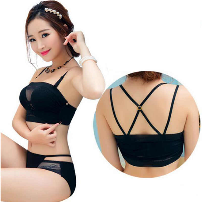 7cca117466 2019 Hot Sale Sexy Ladies Strapless Push Up Bra Sets Padded Gather Women s  Seamless Wire Free