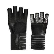 Loogdeel 1 пара Кроссфит тренажерный зал Перчатки для фитнеса регулируемые четыре половинки пальцев для женщин и мужчин тренировка Тяжелая атлетика защита запястья рук