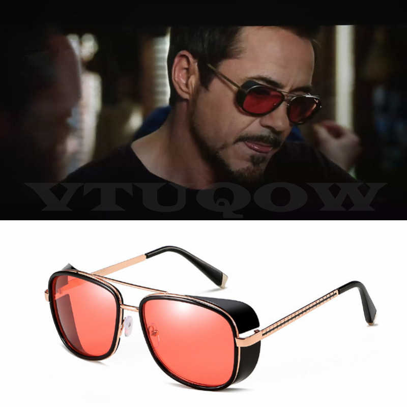 Iron Man 3 Matsuda TONY stark Sunglasses Men Women Rossi Coating retro Vintage Designer Sun Glasses Punk Gothic Sunglass Male