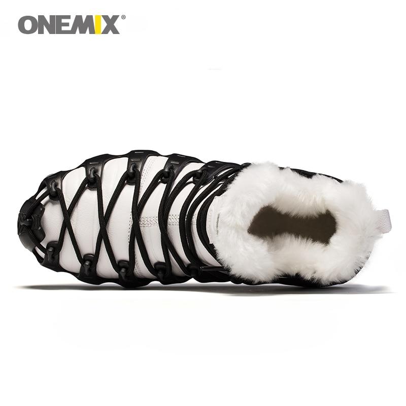 Image 4 - Hot Onemix Winter Mens Trekking Shoes Anti Slip Walking Shoes  Comfortable Warm Outdoor Sneakers For Women Winter Keeping  Shoessneakers for womensneakers outdoorsneakers sneakers